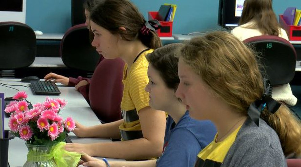 Five months ago Our Lady Academy 8th grader Janna Babin was taking classes at home with the...