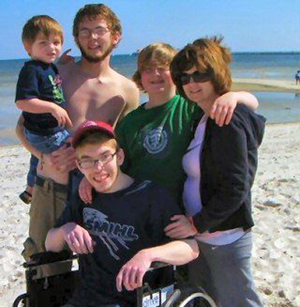 Karen Ferguson and her sons