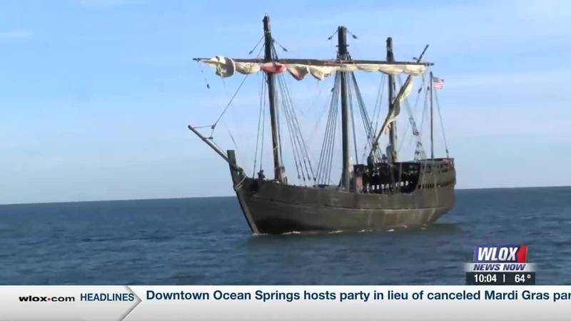 The Pinta has finally docked and folks were lined up at the Biloxi Schooner Pier eager to...