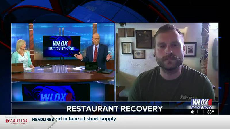 Mississippi Coast restaurant and beverage association president Brandon Atwell gives a quick...