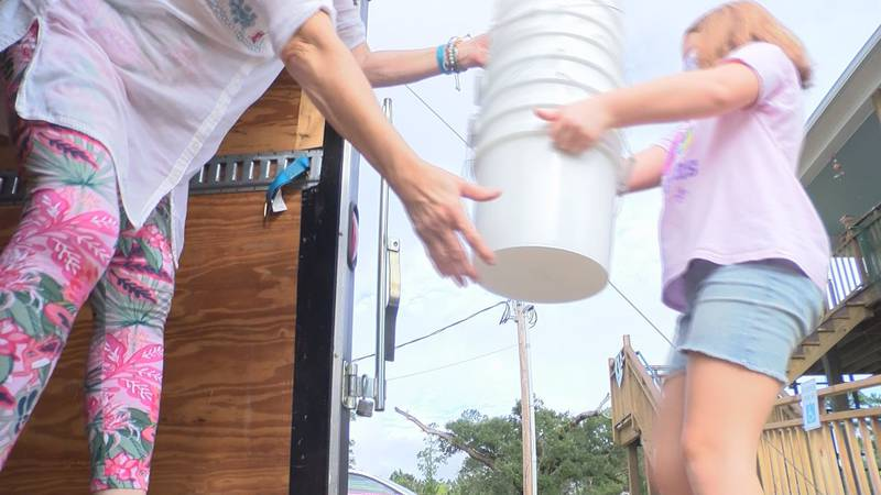 Employees at the Star Café in Bay St. Louis were back and forth nonstop as they grabbed donated...