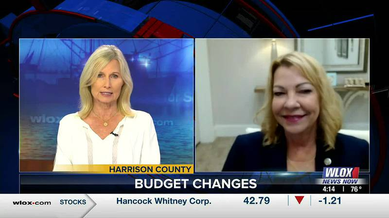 Harrison County Board of Supervisors President Beverly Martin talks about a pay raise for...