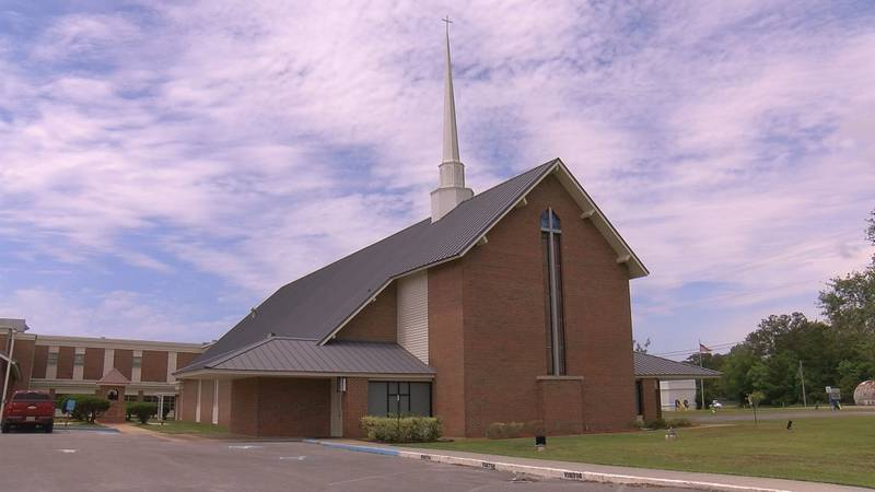 First Baptist Church Gautier is sanitizing up to 200 chairs for its outdoor Sunday service.