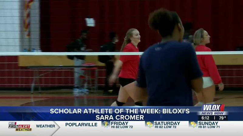 She's a star volleyball player for Biloxi High School and she's been with the program for four...