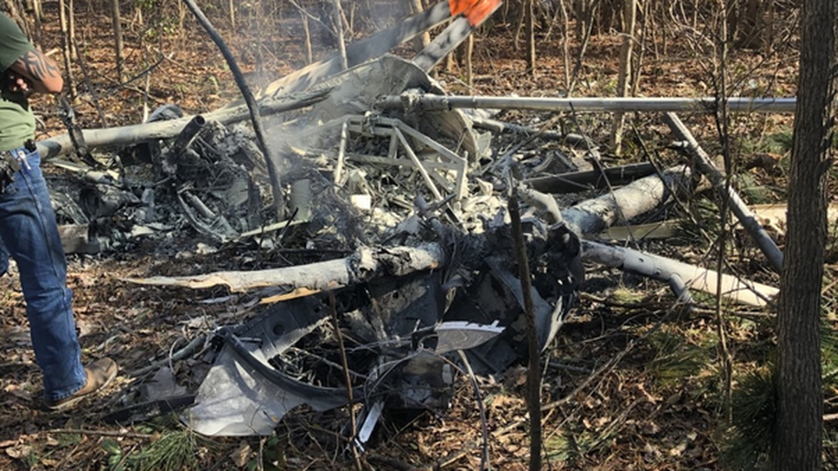 A helicopter crashed in Jones County on Tuesday morning, killing one person.