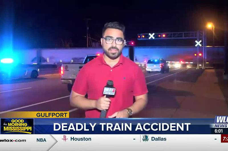 Authorities say a man was lying on the railroad tracks near on Cowan Road near the intersection...