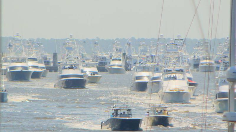 A still from their boat parade. A ceremonial tradition that sees the boats through the Biloxi...