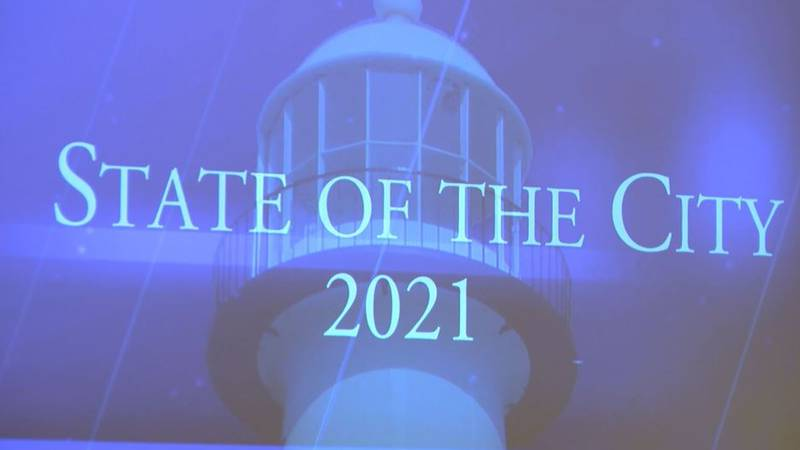 Thursday's State of the City through the Biloxi Bay Area Chamber of Commerce brought in about...