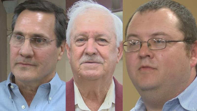 Pictured from left: Dr. Steven Demetropolous; Burt Hill; and, Chris Grace.