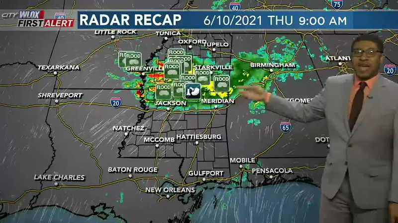 Widespread flooding in north MS over the last 48 hours. Meanwhile, not so rainy down here on...