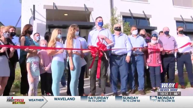 People gathered at Inlet Plaza in Ocean Springs to celebrate not one, but two new businesses...