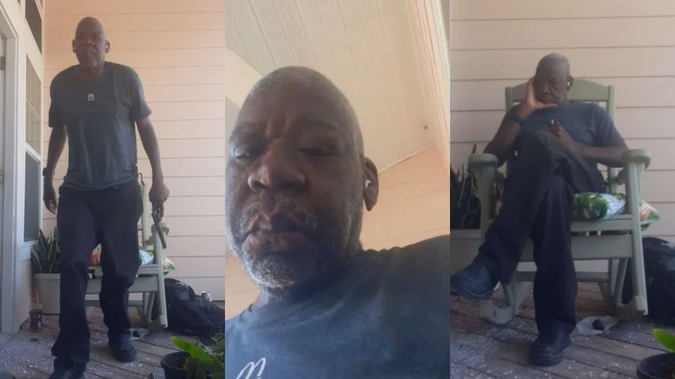 These photos were taken from a Facebook Live that John Anthony Little, pictured here, posted to...