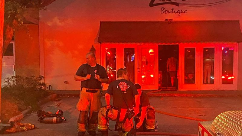 Zeal Boutique, a popular women's clothing store in downtown Ocean Springs, caught fire Thursday...