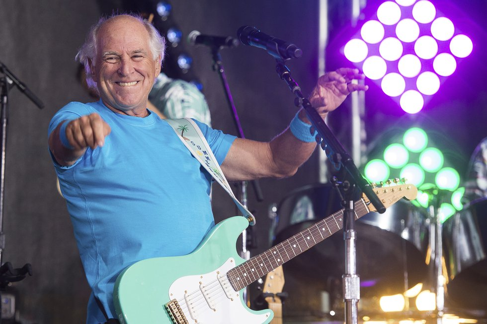 """FILE - This July 29, 2016 file photo shows Jimmy Buffett performing on NBC's """"Today"""" show in..."""
