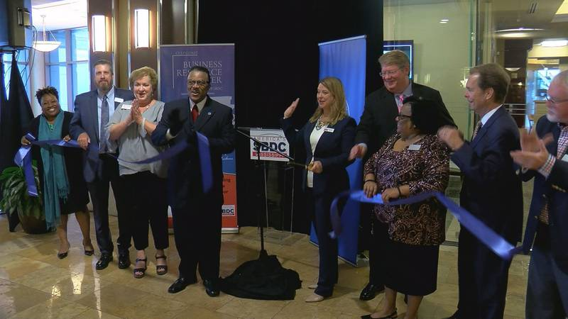 A ribbon cutting ceremony on Thursday for the Gulf Coast Business Resource Center served as a...