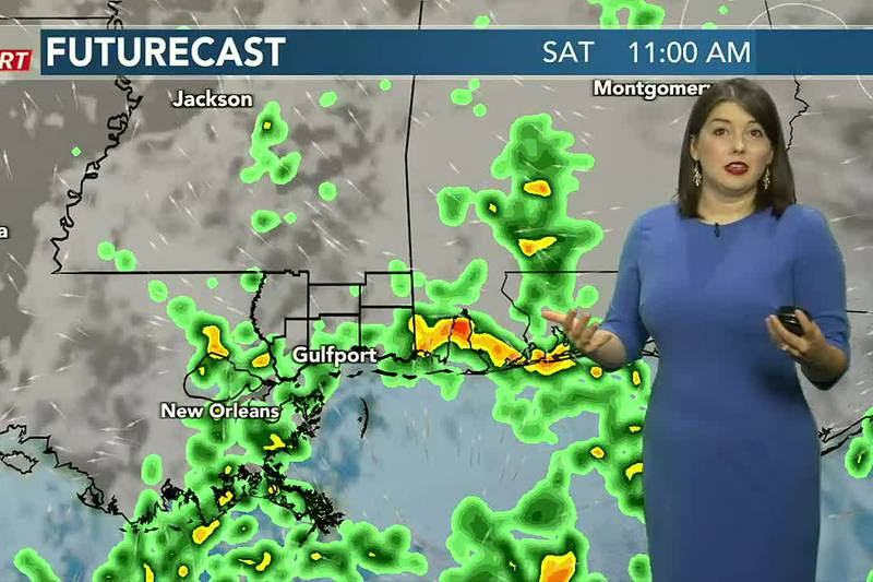 On and off showers and storms this weekend