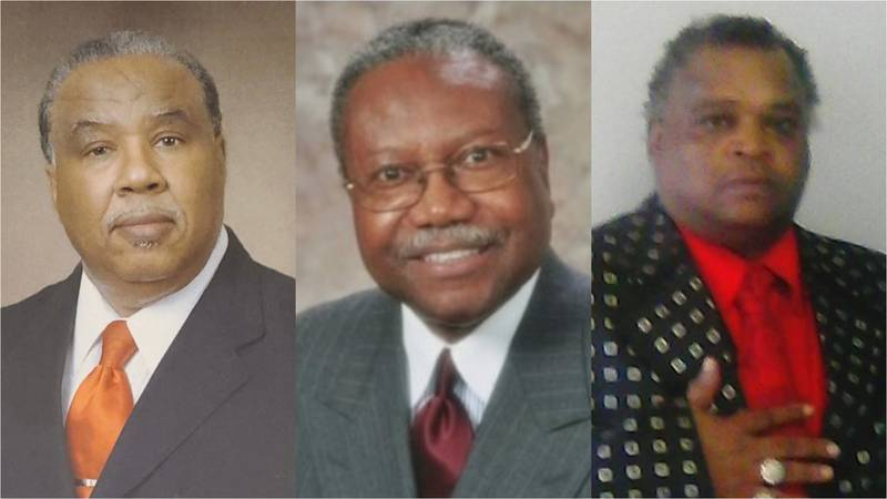 From left, independent candidate Howard Bailey; democratic candidate Billy Knight Sr.; and,...