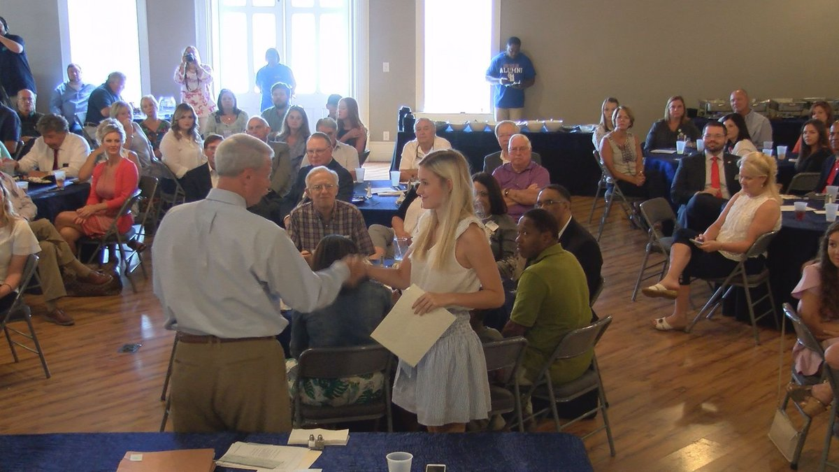 The Pascagoula Rotary Club gave $42,000 of scholarships to  44 students on Wednesday.