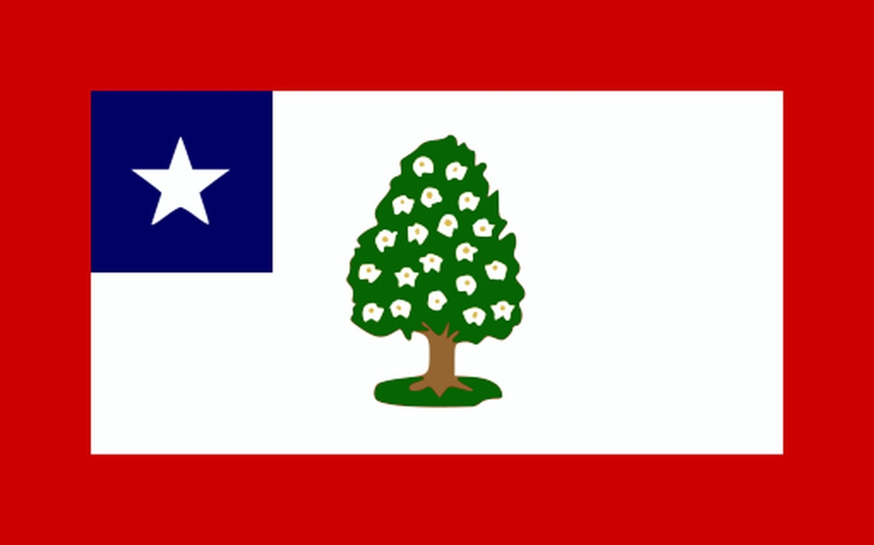 The Magnolia Flag was the first official state flag of Mississippi, flying from March 30, 1861,...