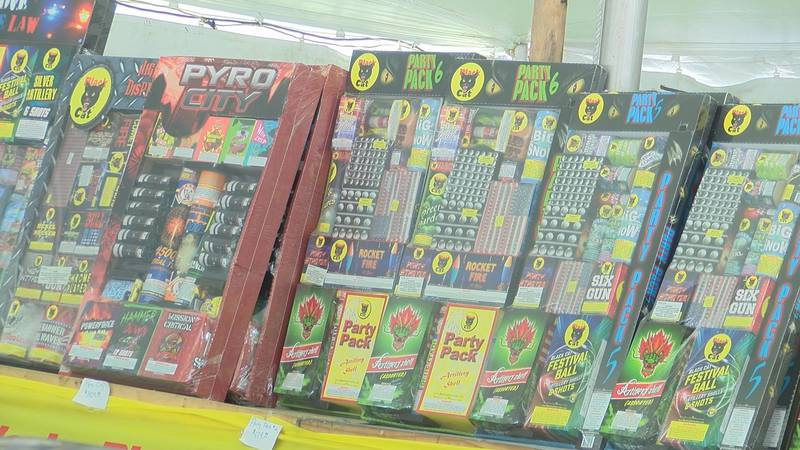 A national shortage is leading to less fireworks on the shelves at many stands this year, which...