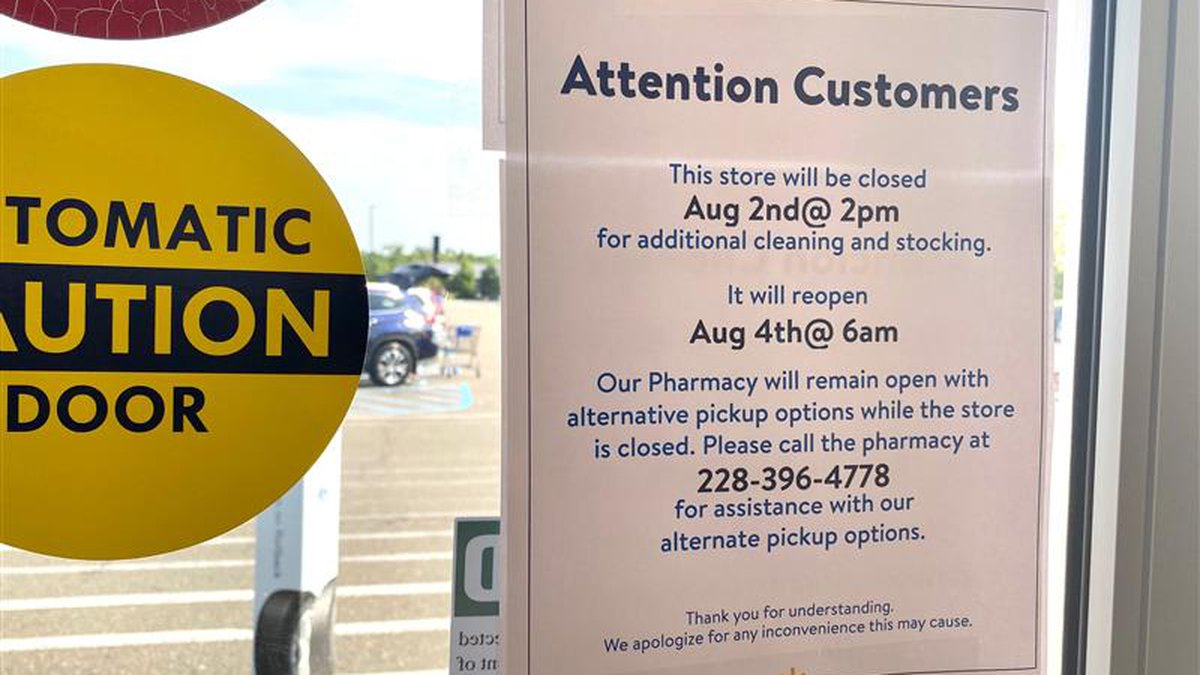 According to a sign on Walmart's door, the pharmacy will remain open with alternative pickup...
