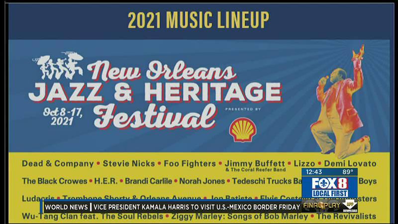 Jazz Fest 2021 lineup announcement