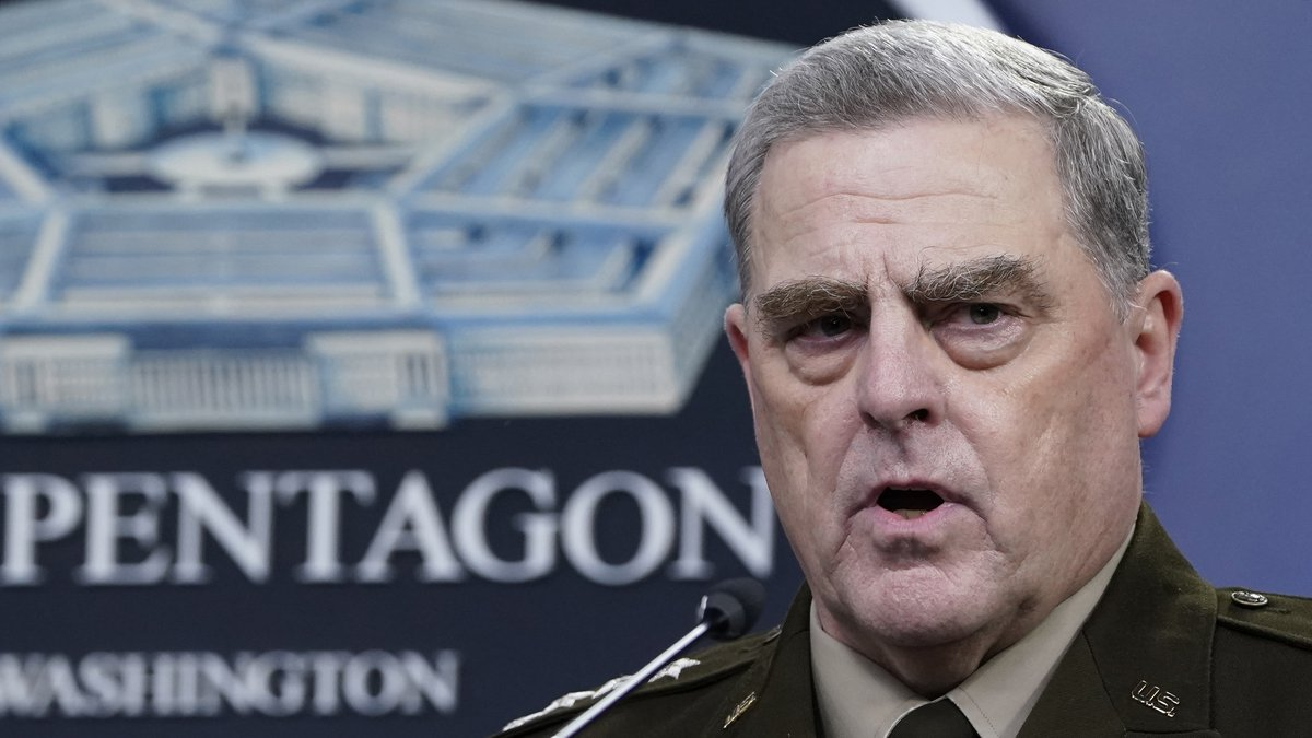 FILE - In this Sept. 1, 2021 file photo, Chairman of the Joint Chiefs of Staff Gen. Mark Milley...