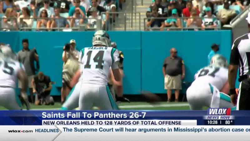 Saints dominated by Panthers 26-7