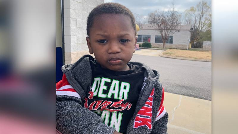Police say this 2-year-old boy was abandoned at a Goodwill drop-off site Monday, Dec. 14, 2020.