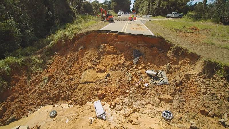It's been more than a week since heavy rains washed out a portion of Highway 26 in Lucedale,...