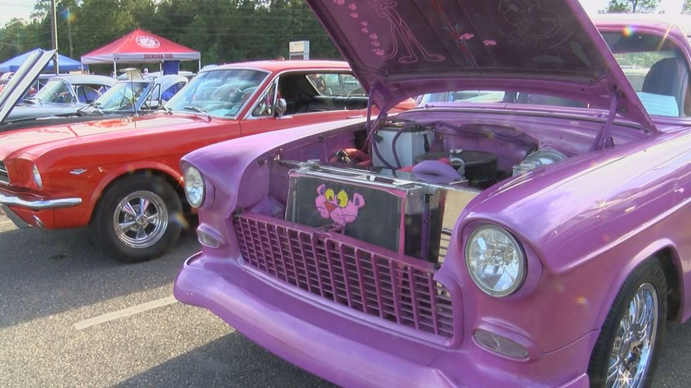 """A """"Pink Panther"""" themed car at the event. (Photo source: WLOX News)"""