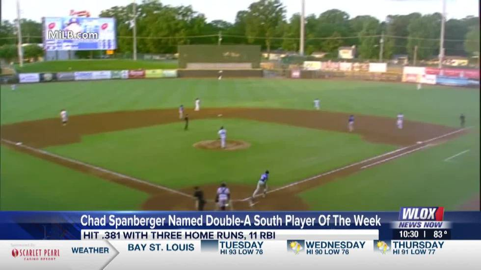 Chad Spanberger named Double-A South Player of the Week