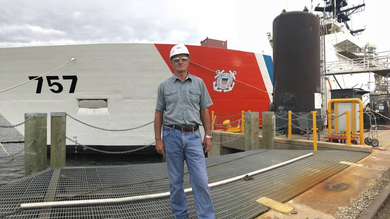 Larry Putman, a master builder, uses his experience to mentor younger shipbuilders.