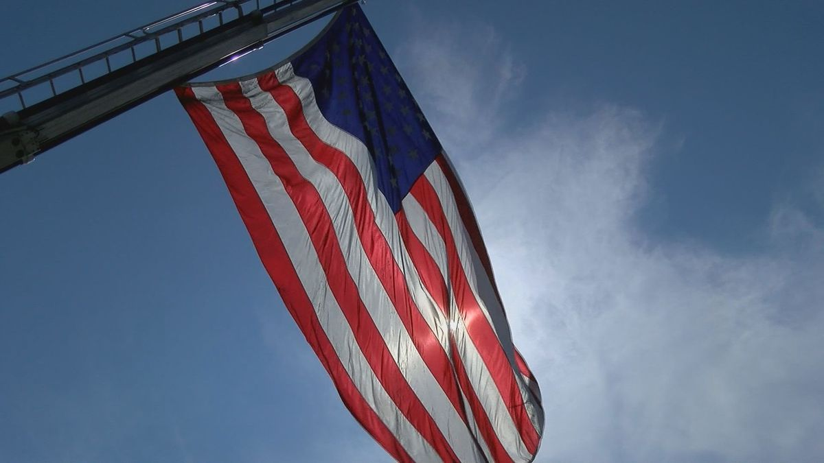 The Infinity Funeral Home launched a new program where people can donate worn flags that will...
