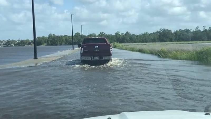 Flooding disrupts business along Popp's Ferry Causeway in Biloxi