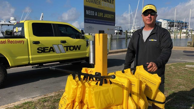 Sea Tow Foundation has installed a life jacket loaner stand in Biloxi