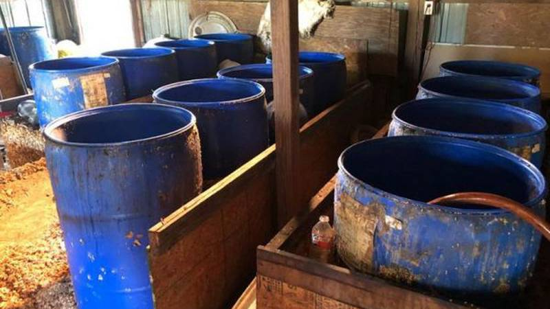 One of the largest moonshine busts in the Magnolia State in many years happened on Tuesday in...