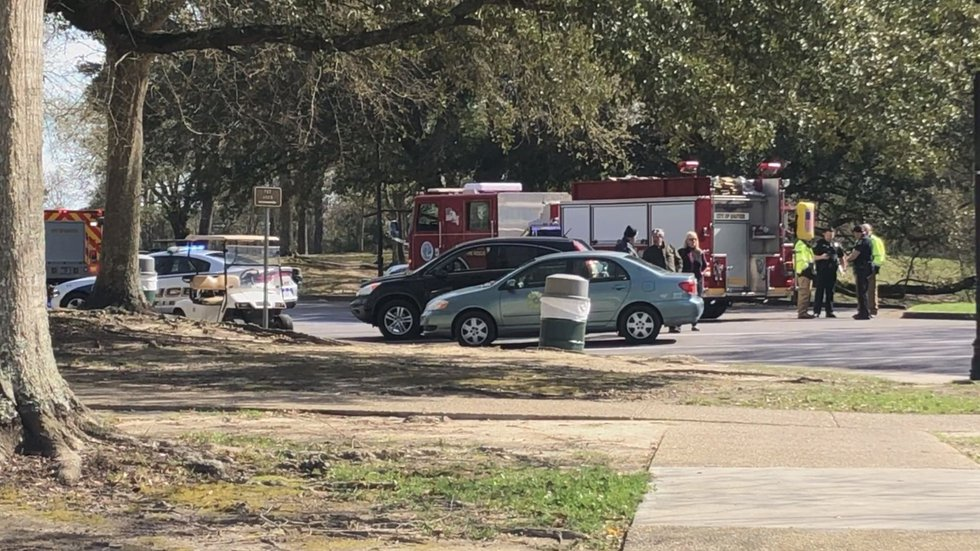 WLOX at the scene moments after the incident happened. (Photo source: WLOX)