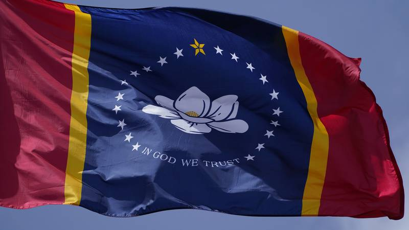 The magnolia centered banner chosen Wednesday, Sept. 2, 2020 by the Mississippi State Flag...