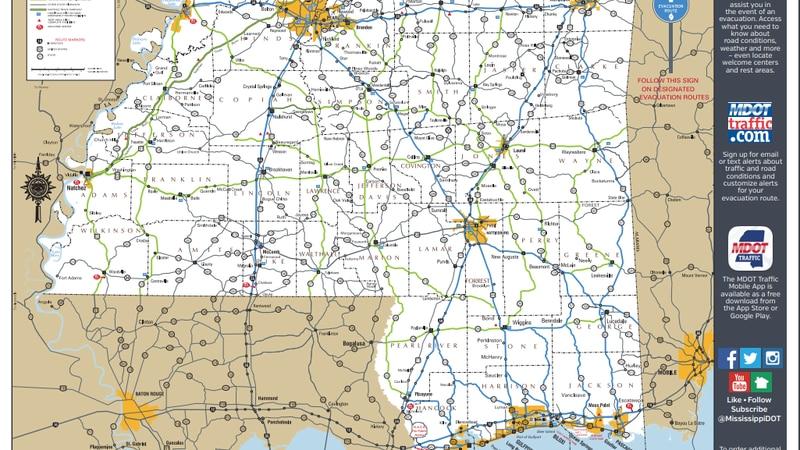 MDOT Hurricane Evacuation Routes