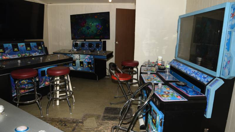 Decatur police found several illegal gambling machines