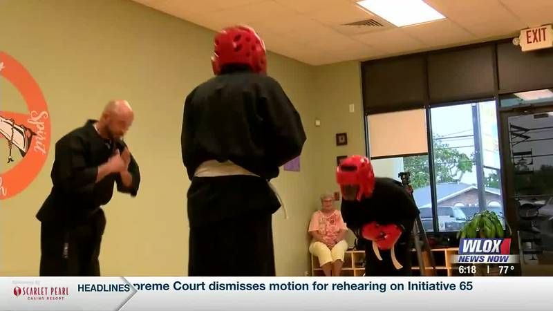 The lessons taught in the class in Long Beach by martial arts instructor John Miller can be...