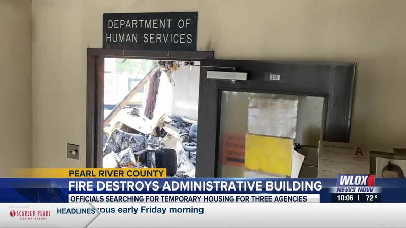 After a fire left three state agencies displaced, Pearl River County officials got busy finding...