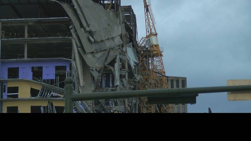 The corner of Canal where the Hard Rock construction collapse sit sits in the French Quarter,...