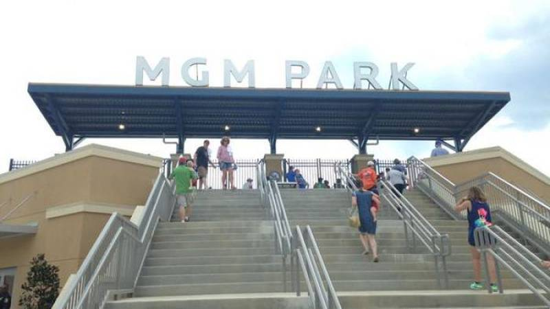 First fans arrive at MGM Park (Photo Source: WLOX News)