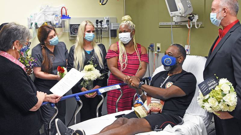 A South Mississippi couple really exemplified the true meaning of 'in sickness and in health'...