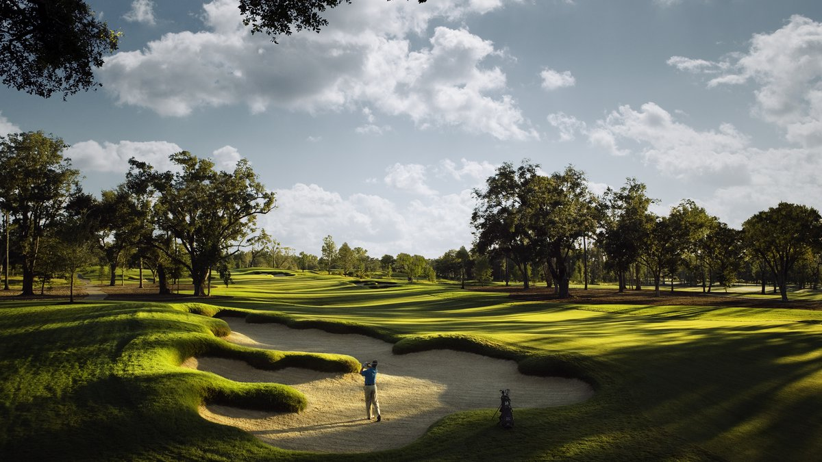 Hole 6 at Fallen Oak, a par-72 course is available to Beau Rivage guests in Harrison County.