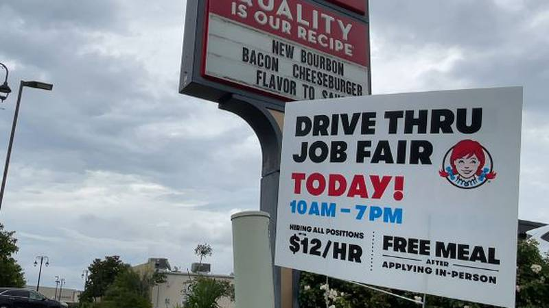 Wendy's in D'Iberville put together a drive thru job fair seeking to fill all positions from...
