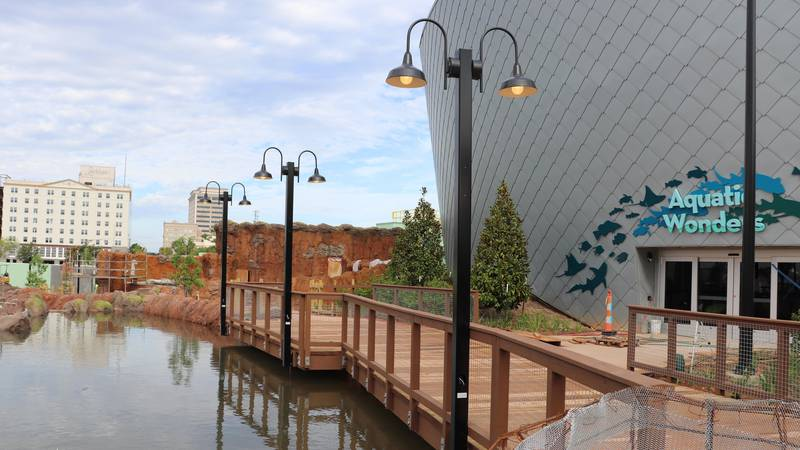The Mississippi Aquarium in Gulfport is expected to open by the end of summer.