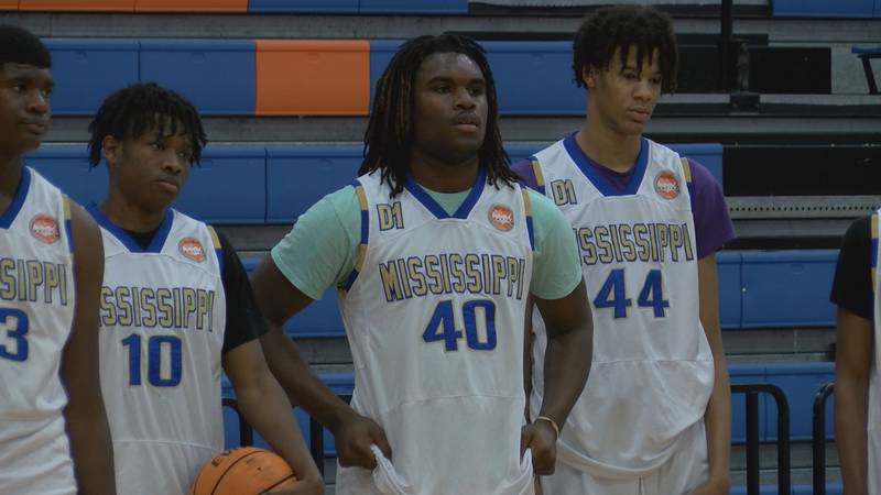 Members of the Mississippi Select (also known as Mississippi Ambassadors) basketball team...